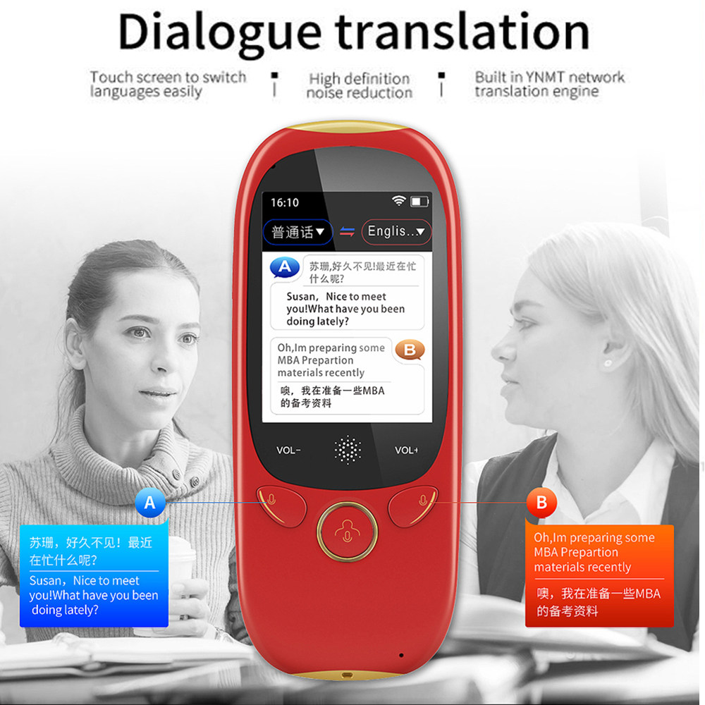 "New K1 AI Smart Voice Translator 2 4G Wifi Hospot Handheld Real Time Instant 75 Languages 2 0"" Touch Screen 1280mAH Translation in Translator from Consumer Electronics"