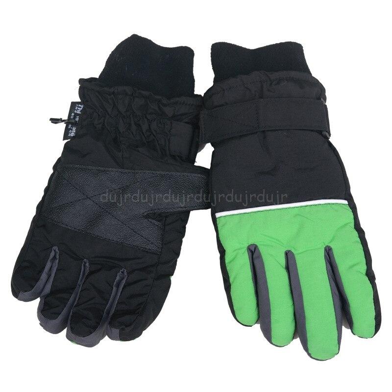 Kids Boys Girls Waterproof Windproof Ski Mitten Gloves