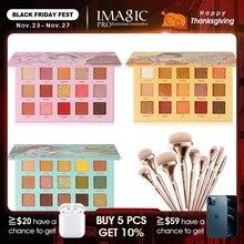 IMAGIC seti kombinasyonu 3 adet göz farı paleti göndermek için 9 setleri fırça kızlar kozmetik vermek hediyeler