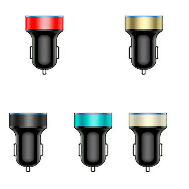 Car Accessories 3.1A Dual USB Car Charger 2 Port LCD Display 12-24V Cigarette Lighter Socket For Smart Phone Uncategorized Car Electronic & GPS Consumer Electronics Electronics