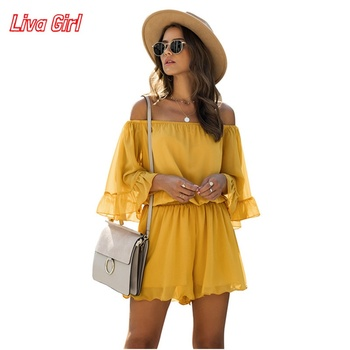 women sexy spaghetti strap sleeveless wide leg jumpsuit summer elegant solid casual rompers pockets playsuits loose overalls Summer Sexy Elegant Solid Color Women Sleeveless Wide Leg Overalls Fashion Rompers Womens Jumpsuit Casual Loose Short Jumpsuit