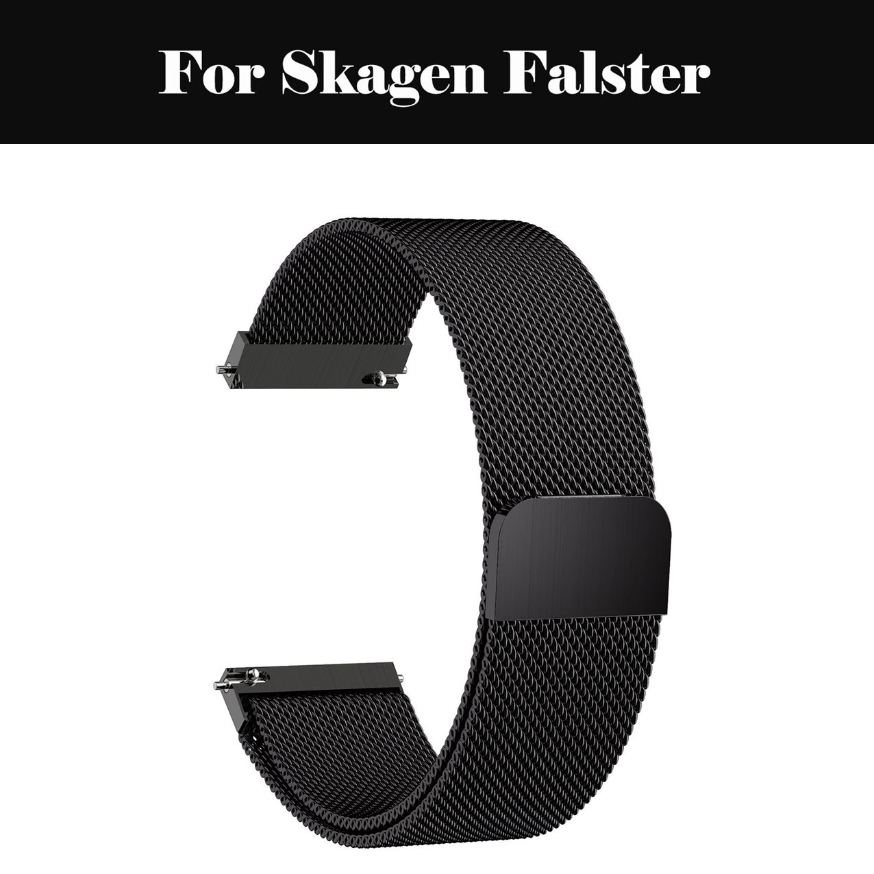 Milanese Loop Strap Bands Stainless Steel Watchbands With Magnetic Closure For Skagen Falster