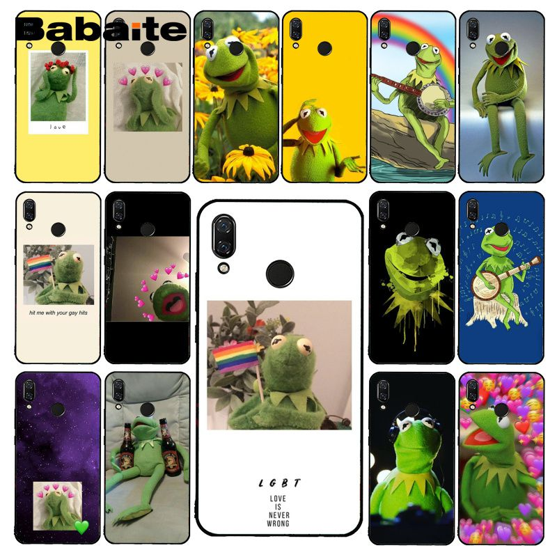 Babaite Kermit the Green frog Funny Cute Gay Phone Case for Xiaomi Redmi8 4X 6A S2 Go Redmi 5 5Plus Note4 5 7 Note8Pro