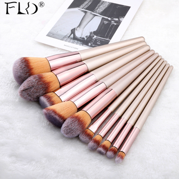 FLD 9/10 Pieces Kabuki Makeup Brushes Set For Foundation Powder Blush Eyeshadow Concealer Make Up Brush Cosmetics Beauty Tools beili complete professional 25 pieces foundation powder concealer eyes hadow makeup brush set
