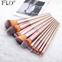 FLD 9/10 Stück Kabuki Make-Up Pinsel Set Für Foundation Powder Blush Lidschatten Concealer Make Up Pinsel Kosmetik Schönheit Werkzeuge