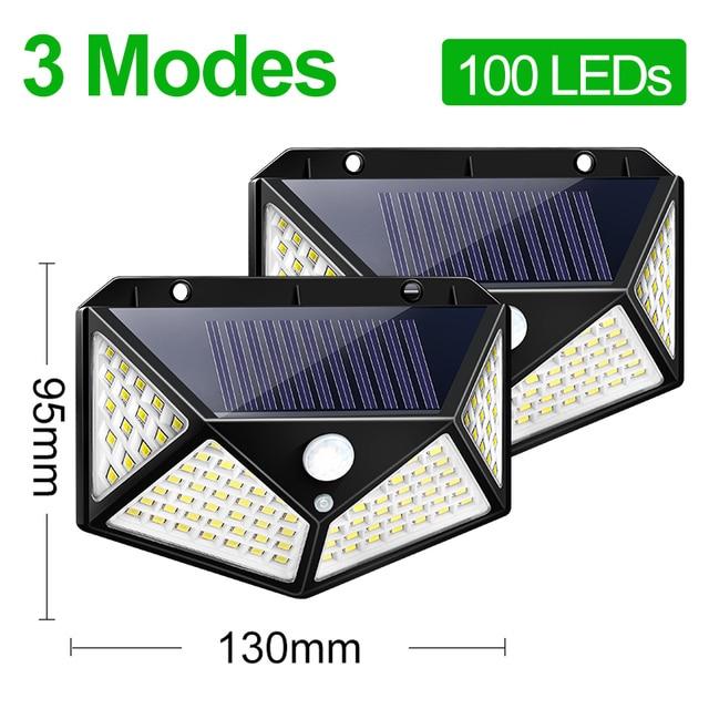 Goodland 100 LED Solar Light Outdoor Solar Lamp Powered Sunlight Waterproof PIR Motion Sensor Street Light for Garden Decoration