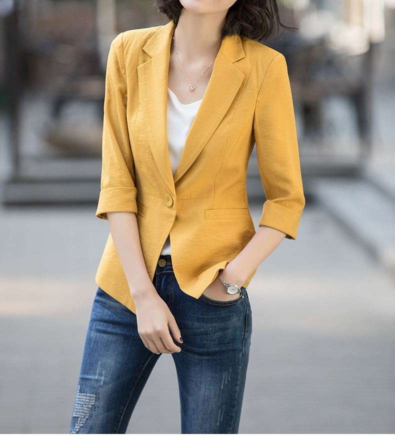 Women Blazers And Jackets Single Button Women's Spring Jacket Short Slim Office Casual Tops Outerwear Blazer Feminino YQ183