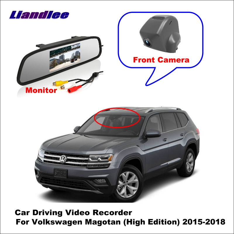 Liandlee Car DVR Wifi Video Recorder Dash Cam Camera For Volkswagen VW Magotan (High Edition) 2015-2018 Night Vision APP image