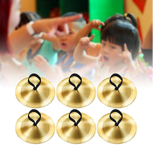 3pair Props Costume Boy Girl Games Toy Evening Party For Dancer Kids Copper Belly Dancing Mini Musical Instrument Finger Cymbals