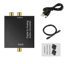 AMS-AC Digital Optical Toslink SPDIF Coax zu Analog L/R RCA Audio Converter