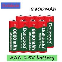 1-16 pçs marca 1.5vaaa bateria recarregável 8800mah aaa 1.5v novo alcalino recarregável batery para led luz brinquedo mp3 frete grátis