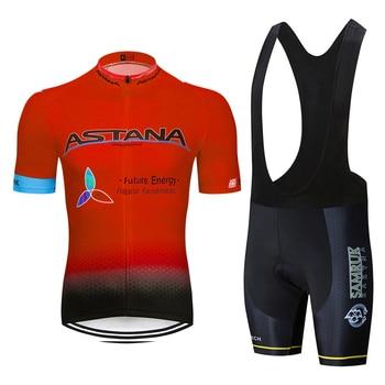 Astana-Ropa de Ciclismo de montaña, conjunto de Jersey, Maillot, verano, 2020