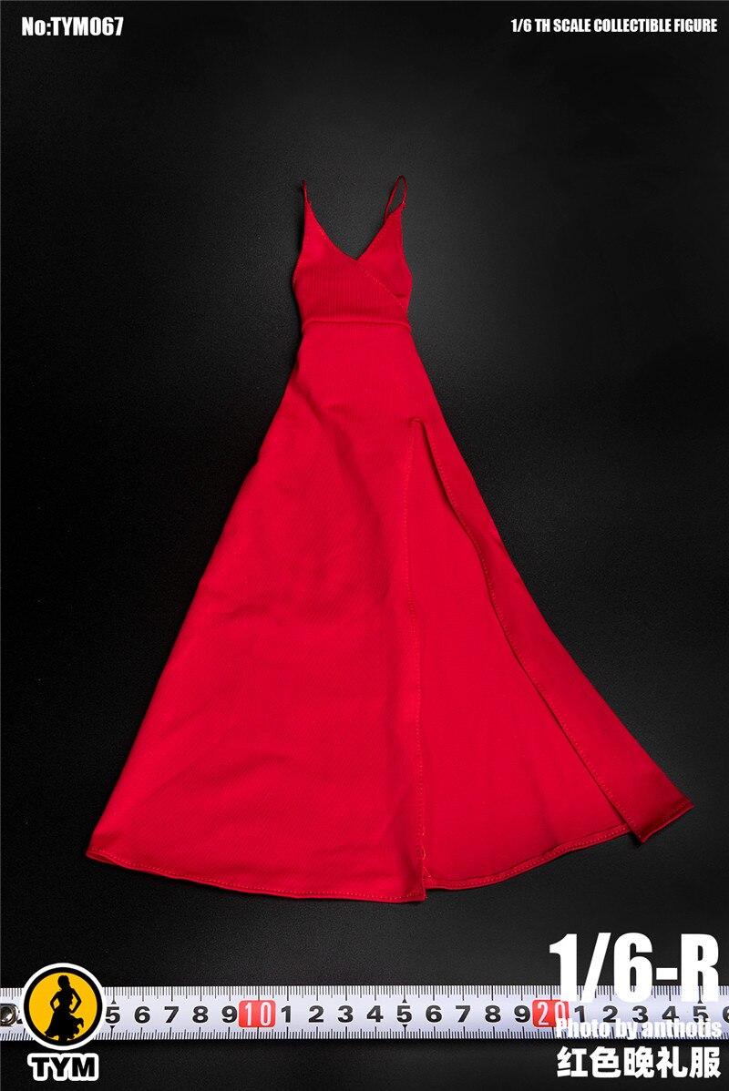 В наличии 1/6 масштаб TYM067 Сексуальная женская фигура аксессуар вечернее платье красная юбка одежда для 12 фигурка тела