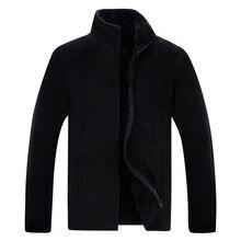 2019 Winter Jacket Men Soft Shell Fleece Warm Army Green Windbreaker Black Plus Size XL~5XL 8XL Coats Male