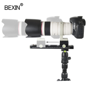 Image 5 - BEXIN Panoramic Long Telephoto Double layer Quick release plate clamp Arca Swiss camera Clamp Adapter Mount Bracket Tripod Holde
