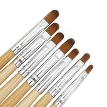 7 adet/takım tırnak fırça uçlu kalem 7 farklı boyut tırnak tutkal fototerapi kalem uygun profesyonel Salon veya ev kullanımı için jel tırnak fırça
