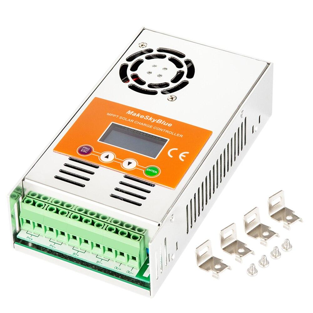 MPPT Controlador de Carga Solar para 12 MakeSkyBlue V 24 V 36 V 48 V 72 V 96 V AGM Lifepo4 carregador de Bateria de lítio Não PWM Regulador