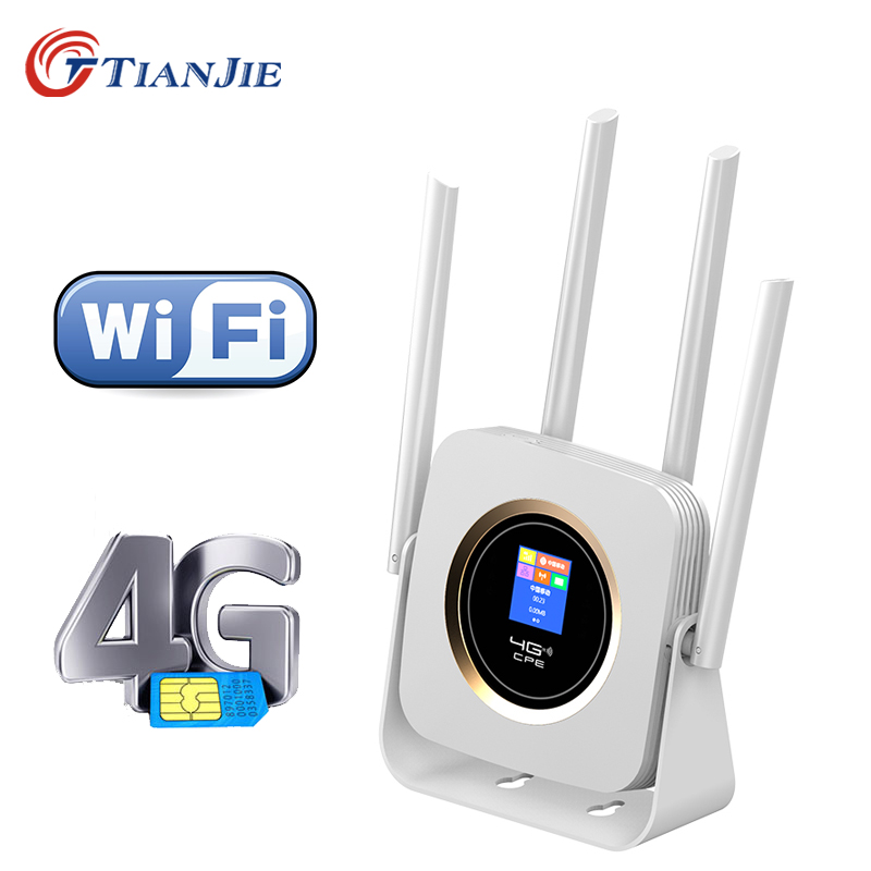 TIANJIE CPE904 Router 4g Sim Card 4G Wifi Router Hotspot 4G LTE Modem 3000mah Battery Pocket Wifi Modem CPE 4g Wifi CPE Router