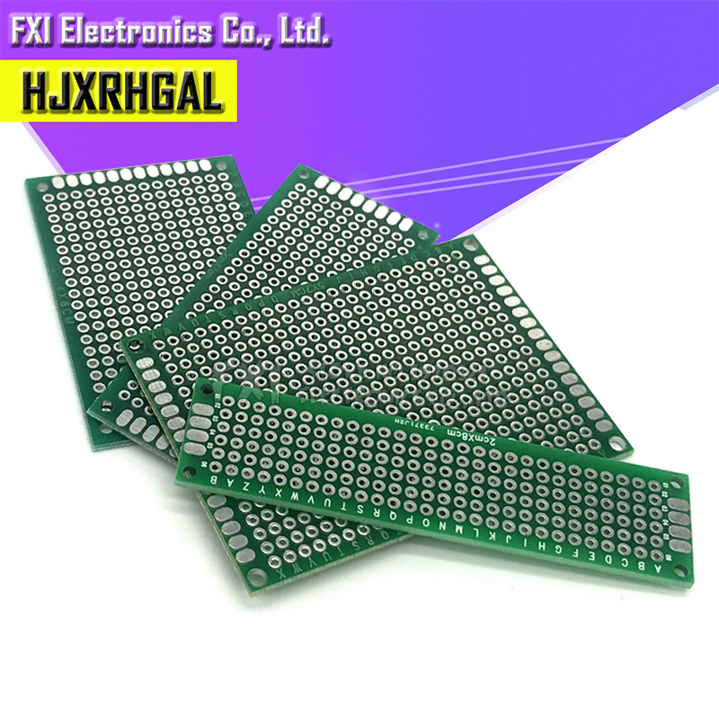 4pcs 5x7 4x6 3x7 2x8 cm double Side Copper prototype pcb KIT Universal Board for Ardui igmopnrq