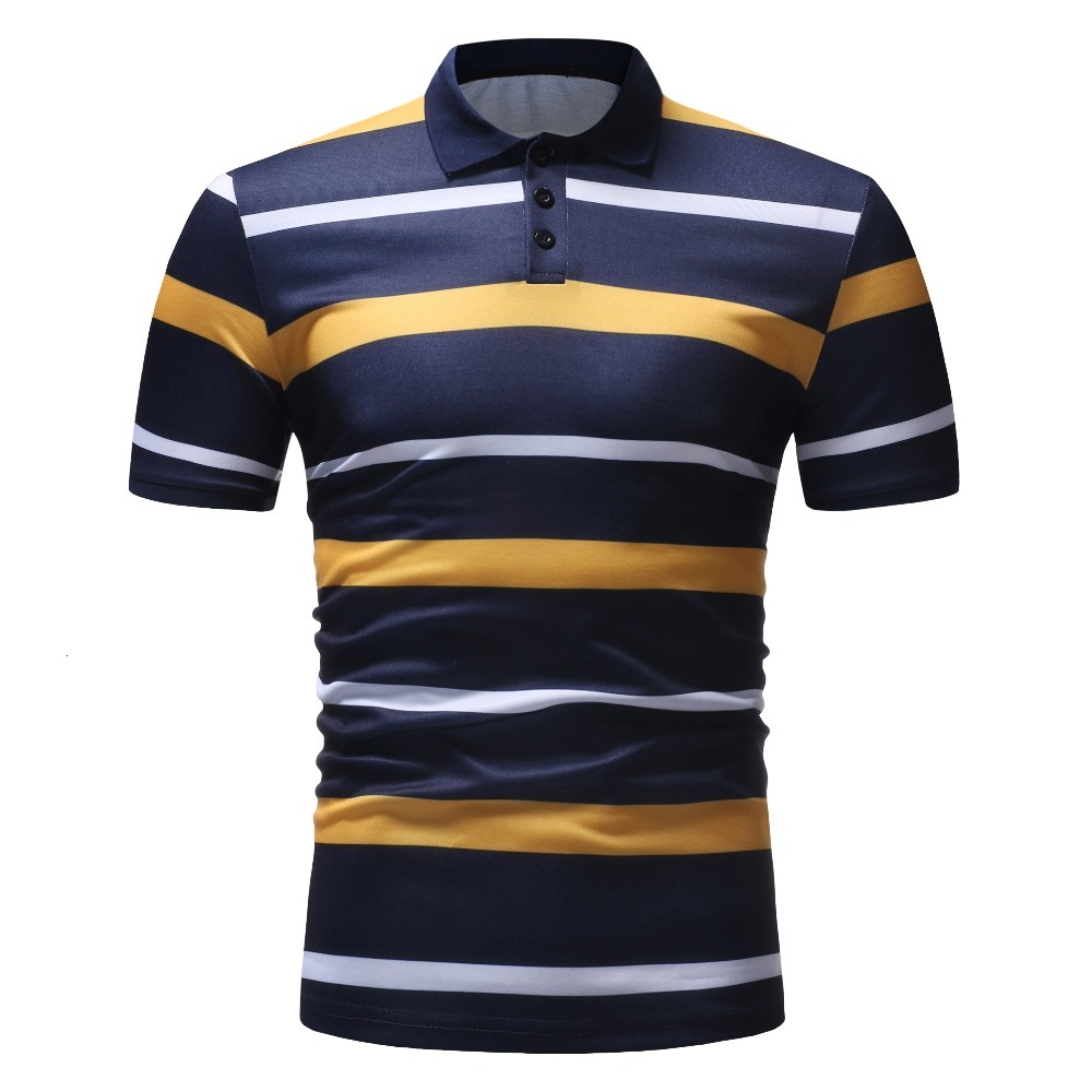 High Quality Mens Polo Shirt Brand Clothing Short Sleeve Business Casual Stripe Designer Homme Camisa Breathable Plus Size XXXL