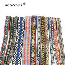 Lucia crafts 1 ярд/лот Этнические вышитые жаккардовые ленты отделка DIY для украшения ручной работы швейная одежда головные уборы Q0701