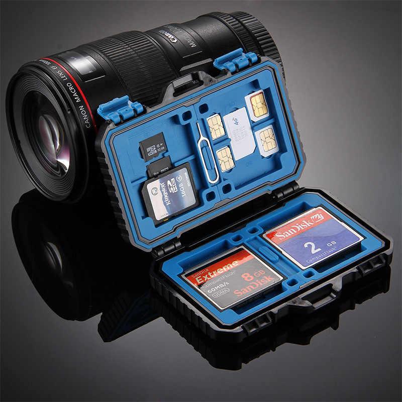 Zwart 27 Kaarten Kamer Waterdichte CF/TF/SD/SIM Kaart Doos Houder Memory Card Storage Case 11.5*7*2.05CM