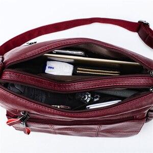Image 5 - حقائب يد ومحافظ فاخرة للنساء ذات سعة كبيرة ، حقائب نسائية مصممة من الجلد والكتف ، حقائب كروس للنساء 2020 كيس
