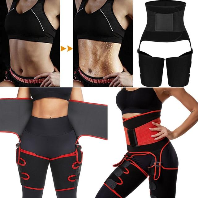 Women Neoprene High Waist Trainer Body Shaper Sweat Shapewear Adjustable Slim Belt Trimmer Leg Shapers Waist and Thigh Trainer 1