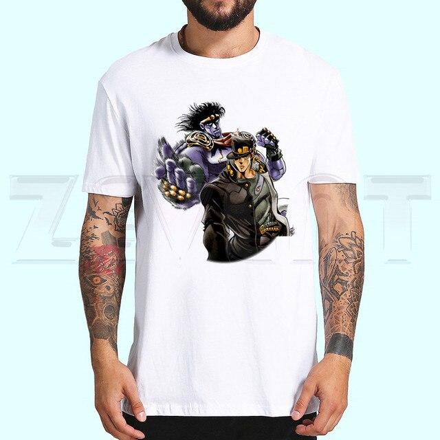 DIO BRANDO JoJo Bizzare Adventure T Shirts Short Sleeves T-shirt Fashion JoJo Bizarre Adventure Kujo Jotaro Tops Tees T-shirt 1