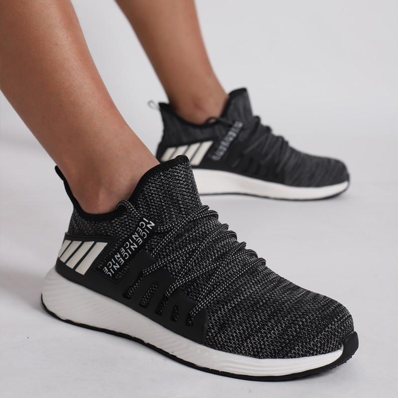 US $18.49 55% СКИДКА|Рабочая обувь со стальным носком; мужские небьющиеся ботинки; легкая дышащая обувь с защитой от проколов; мягкий светильник|Защитная обувь| |  - AliExpress