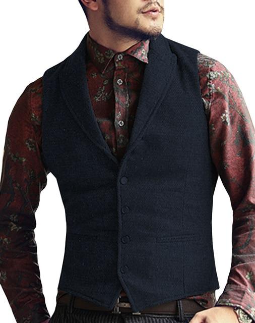 Mens-Suit-Vest-Lapel-V-Neck-Wool-Herringbone-Casual-Formal-Business-Vest-Waistcoat-Groomman-For-Wedding.jpg_640x640 (3)