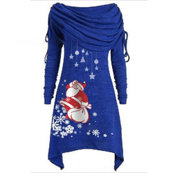 Long Sleeve Casual Print Dress Women Nightmare Before Christmas Dress Plus Size S-5XL Womens Clothing 2019 SJ4626V 3