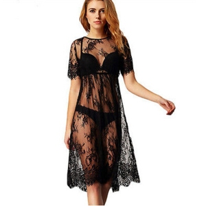 Sexy Women Lace Crochet Bikini Swimwear Cover Up Beach Dress Summer Bathing Suit