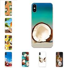 Art On Sale Luxury Phone Case For Galaxy Grand A3 A5 A7 A8 A9 A9S On5 On7 Plus Pro Star 2015 2016 2017 2018 Case Fruit Coconut(China)