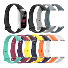 Silicone Smart Watch Band Strap for Samsung Galaxy Fit SM-R370 Replacement Watchband Bracelet Buckle Soft Wristband