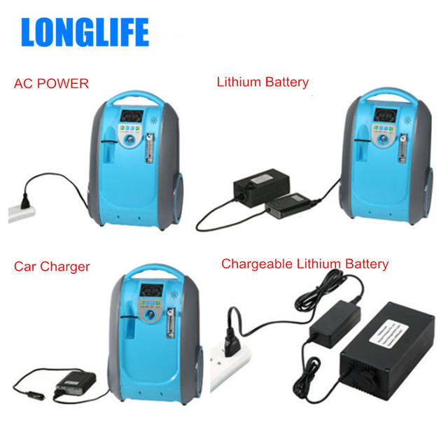 5L Battery Oxygen Concentrator Health Care Medical Use Oxygen Generator Home Car Outdoor Travel Use  COPD O2 Generator