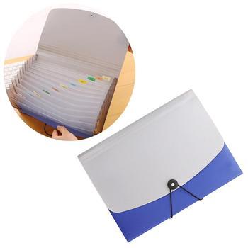 1pc 13 kieszenie rozszerzenie pliku foldery klamra A4 akordeon uchwyt pliku organizator Folder plików z dzielnikami (niebieski) tanie i dobre opinie NUOLUX Powiększenie portfela Torba Approx 33 x 24 5 x 3cm Filing Products