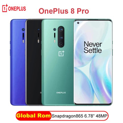 Global Rom Oneplus 8 Pro 5G Smartphone Snapdragon 865 6.87'' 8G 128G 120Hz Fluid Display 48MP Quad 513PPI 30W Wireless Charging