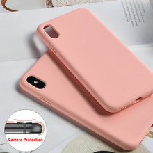Funda de silicona Original para iPhone 7 8 Plus para Apple iPhone X XS Max XR funda para iPhone 6 funda de lujo oficial 6S(China)