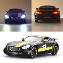 Горячая Распродажа гоночный автомобиль 1:32 Сплав модель автомобиля со звуковым светом игрушки игрушечные транспортные средства для мальчиков детей и детей подарок