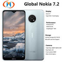 "Brand New Global Nokia 7.2 TA-1196 6GB 128GB Dual SIM Mobile Phone 6.3"" 48MP Triple Camera Front 20MP NFC 4G LTE SmartPhone"