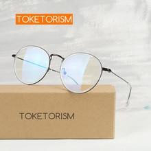 Computer Eyeglasses Toketorism Anti-Radiation Blue Light Blocking Transparent Unisex