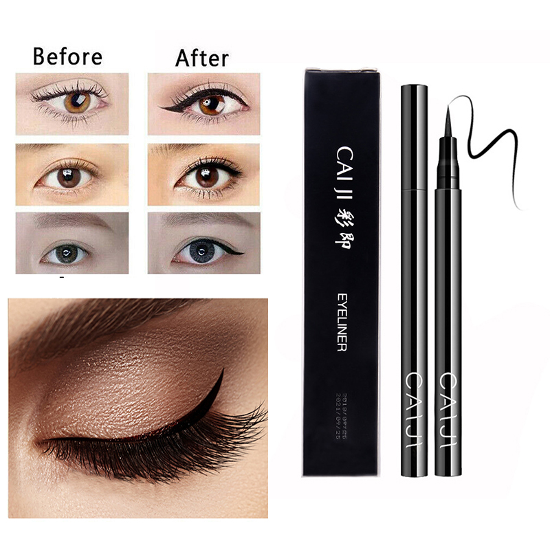 Liquid Eyeliner Black Waterproof Quick-drying Definer Durable Eyeliner Pencil Not Blooming Not Easy To Remove Makeup TSLM1