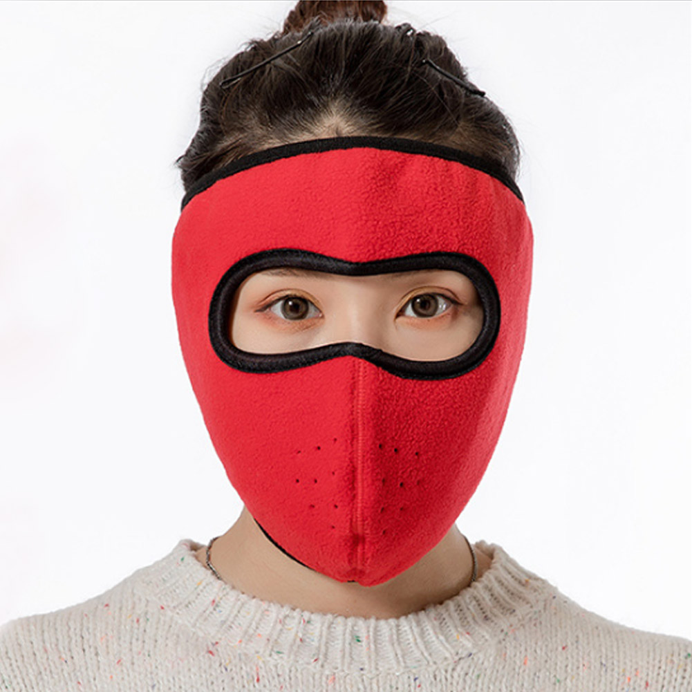 Windproof Plush Mask For Women Men Keep Warming Breathable Masks Winter Sports Riding Cycling Running -MX8
