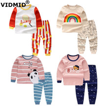 VIDMID Spring Baby Girls Clothing sets Long Sleeve t-shirt girls Clothes Sets cotton for Kids childrens clothingsets 4051