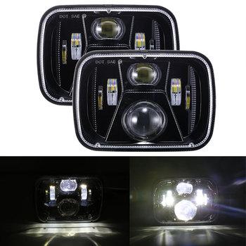2018 Newest Headlights 5x7Inch LED 12V 24V Headlights with Hi/Lo Beam For Jeep Wrangler Cherokee XJ 6x7 Projector Headlamp Light