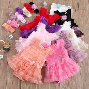 2020 newborn baby girls flower kids dress for lace cake tutu halloween party princess dress birthday party event prom dress 0 8y Baby Baptism Lace Flower Dress Princess Summer Newborn Infant Girls Birthday Gown Dress Christmas Party Dress Headband Clothes