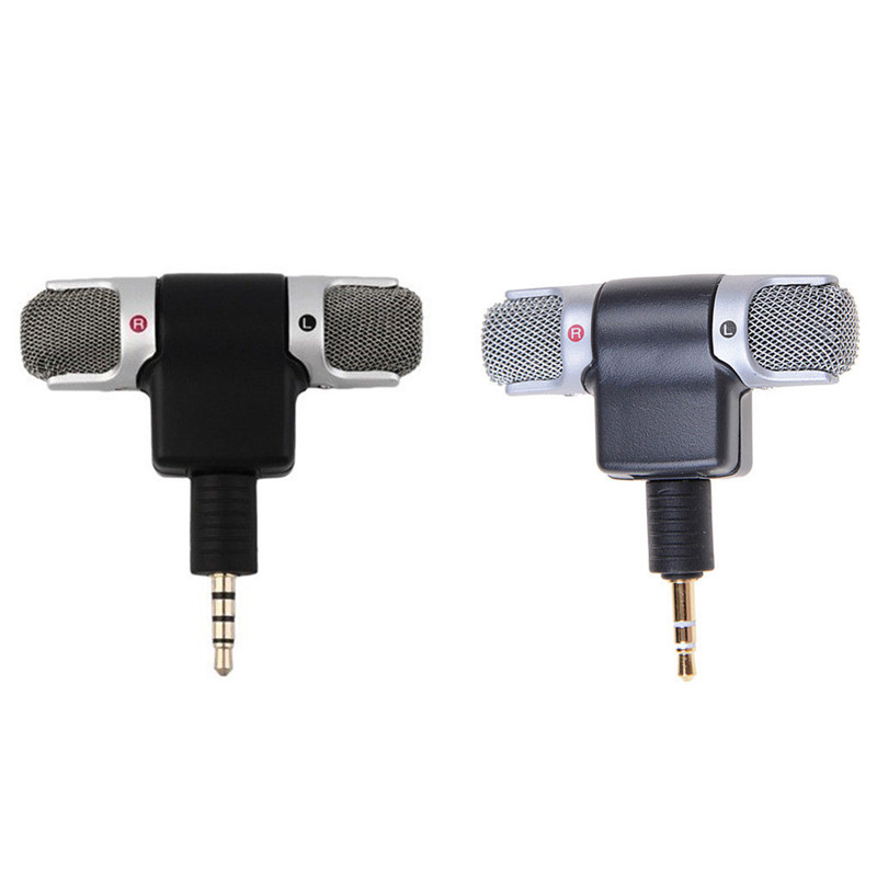 Hot 3.5mm Jack Mini Recorder Stereo Voice Microphone Mic for Laptop PC Android Phone image