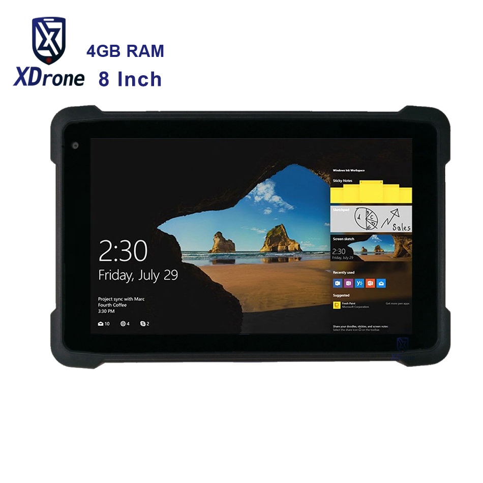 "2020 China K81H Rugged Waterproof Windows Tablet PC 8"" Z8350 4GB RAM 64GB ROM Handheld Mobile GPS RTK OTG GPS Strap Scanner 4G"