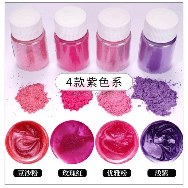 20 Pearlescent powder Epoxy Resin Dye Pearl Pigment Natural Mica Mineral Powder G29 Dropship 5